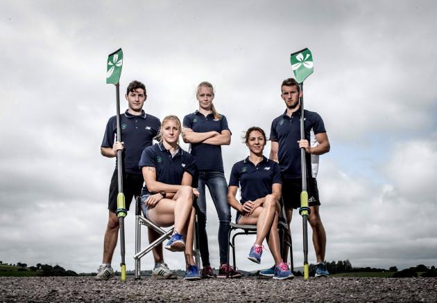 Paul O'Donovan, Sanita Puspure, Claire Lambe, Sinead Jennings and Gary O'Donovan