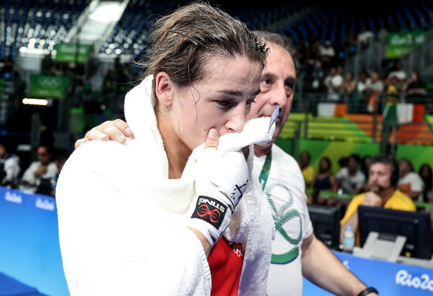 Katie Taylor dejected after losing her fight