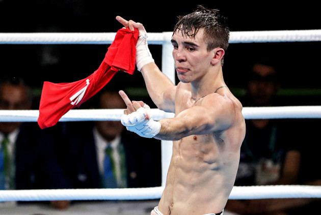 Michael Conlan following his defeat to Vladimir Nikitin