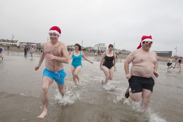 25/12/2016. Christmas Day Swim Tramore. Xmas Day s