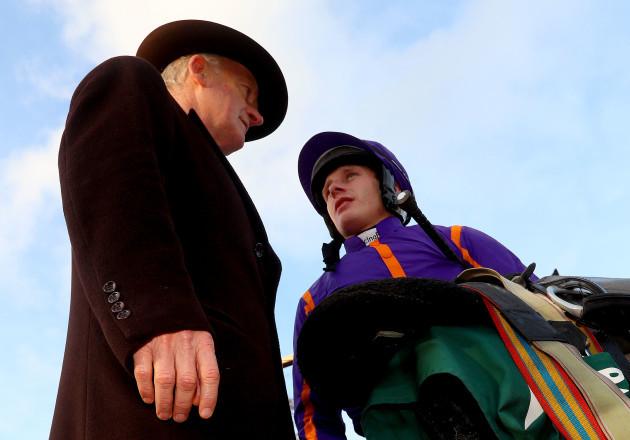 Paul Townend speaks to Willie Mullins