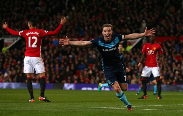 Manchester United v Middlesbrough - Premier League - Old Trafford