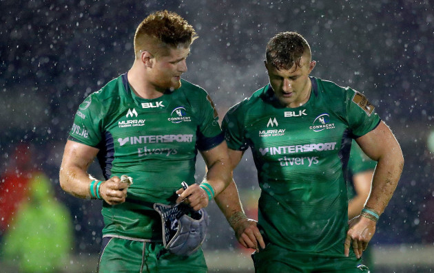Sean O'Brien and Peter Robb dejected after the game
