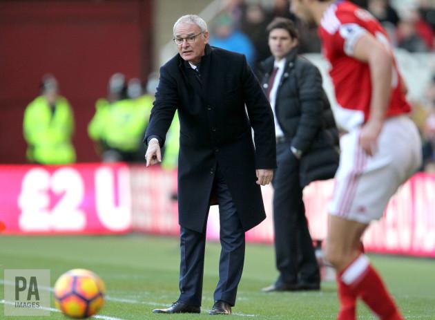 Middlesbrough v Leicester City - Premier League - Riverside Stadium