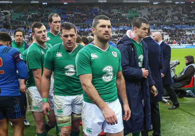 CJ Stander, Rob Kearney and Jonathan Sexton dejected after the game