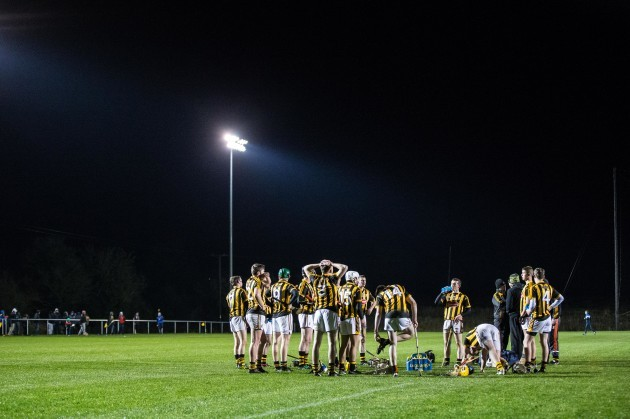 Kilkenny players during half time