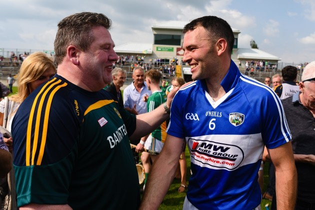 Matthew Whelan with Eamonn Kelly after the game