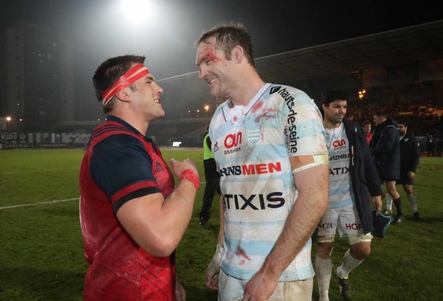 CJ Stander and Ali Williams after the match