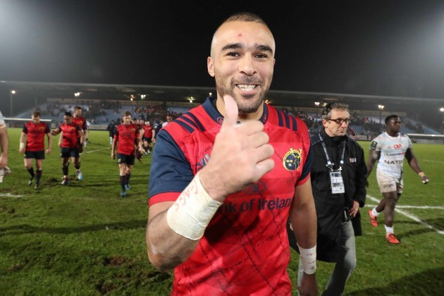 Simon Zebo after the match
