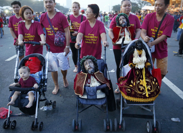 Pictures: Filipinos brave terrorist fears for annual Black