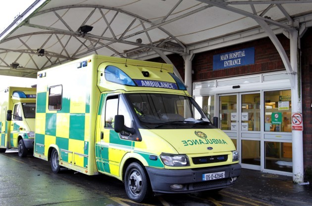 File Photo. Hospital Crisis. Paul Bell of SIPTU has expressed concern that ambulance drivers cannot respont to emergency calls because their vechicles are being retained at hospitals with patients inside, because there is no room for them in the A&E depar