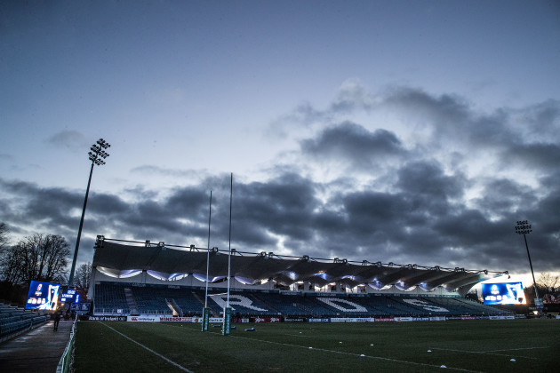 A view of the RDS stadium ahead of the game
