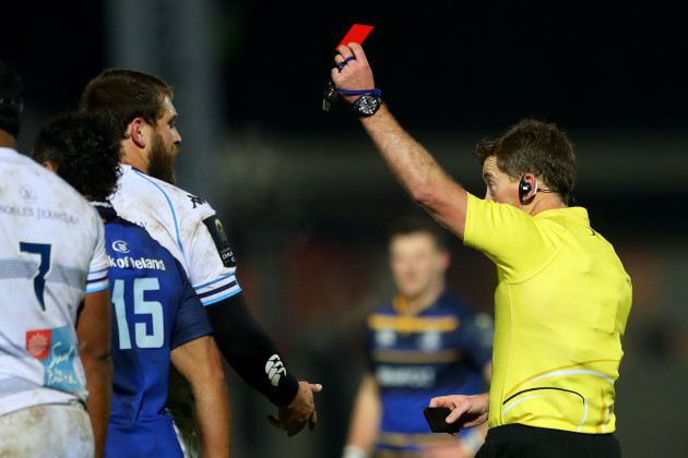 Frans Steyn red carded by referee JP Doyle