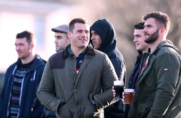 CJ Stander attends the game with Jaco Taute, Ronan O'Mahony, Simon Zebo, Conor Murray and Peter O'Mahony