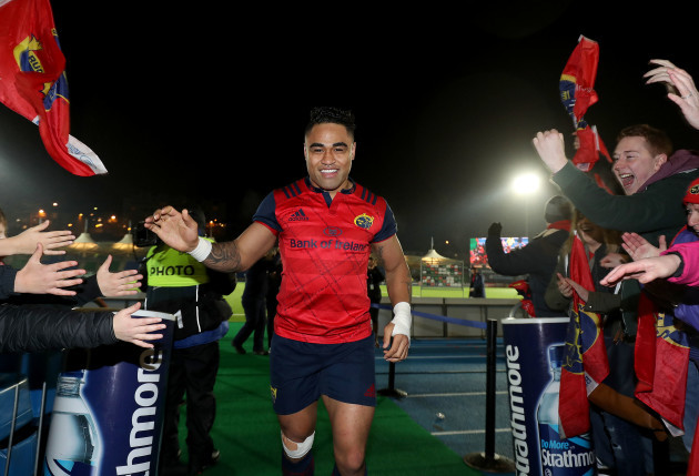 Francis Saili celebrates after the match