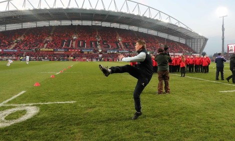 Ronan O'Gara before the game