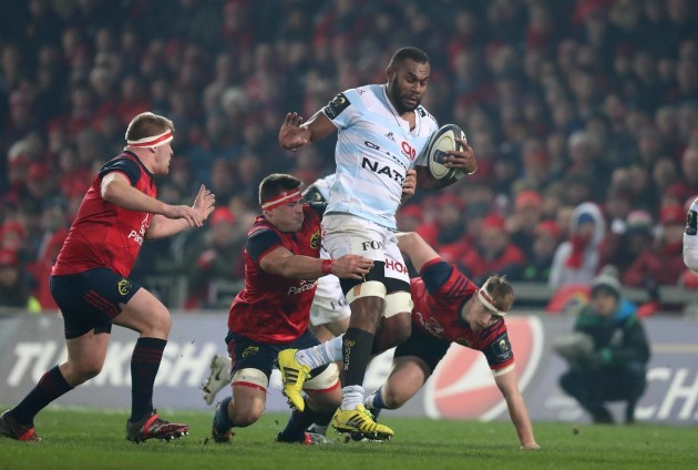 Leone Nakarawa is tackled by CJ Stander