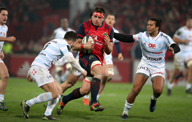 CJ Stander with Brice Dulin and Teddy Thomas