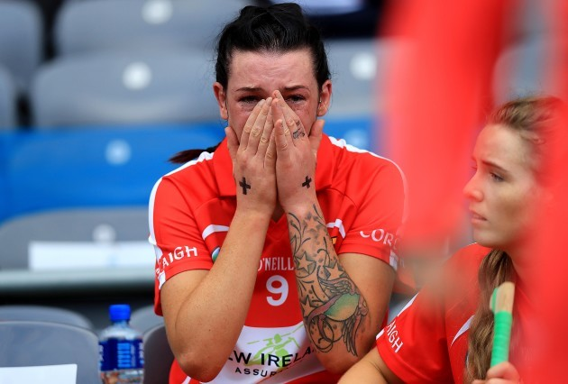 Ashling Thompson dejected at the end of the game