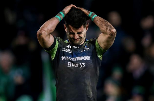 Tiernan O'Halloran dejected after the game 22/1//2017