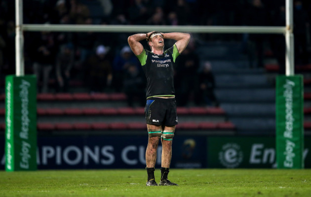 James Cannon dejected after the game 22/1//2017