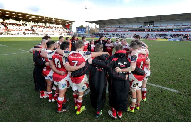 Rory Best speaks to the team after defeat to Bordeaux