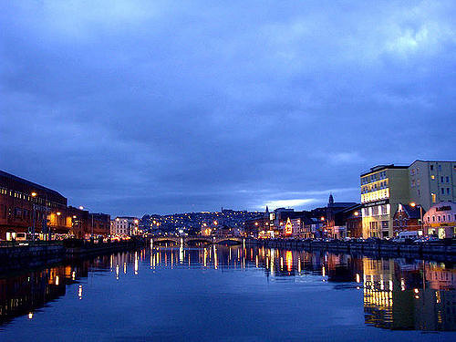 Cork at night