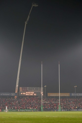 general view Thomond Park Sky Sports TV television tower