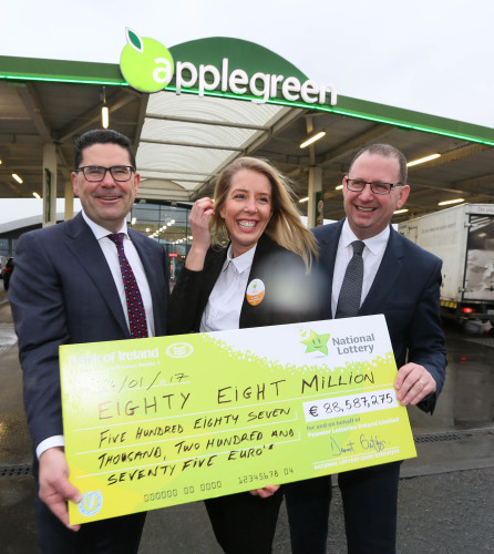 2017 €88-5 MILLION EUROMILLIONS JACKPOT TICKET SOLD IN APPLEGREEN LUSK M1 NORTH 005