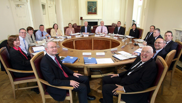 Power-sharing ministers in first Cabinet meeting