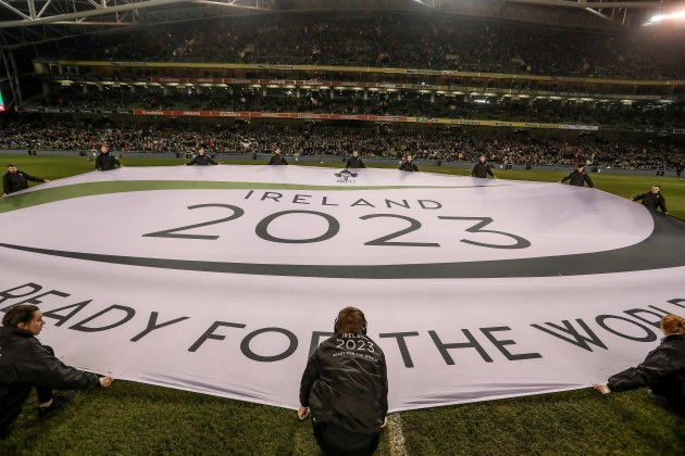 Banner for Ireland 2023 Rugby World Cup bid