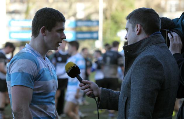 Nick Timoney is interviewed