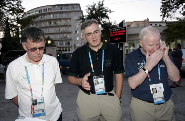 Willie O'Brien, Sean Gaine and Pat Hickey brief the press