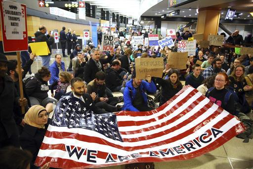 APTOPIX Trump Refugees Seattle