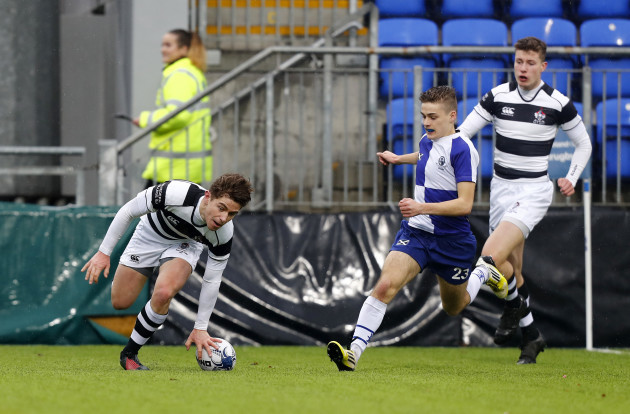 Paraic Cagney goes over for a try