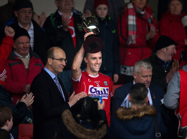Stephen McDonnell lifts the cup