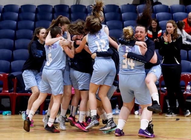 DCU celebrate at the final buzzer
