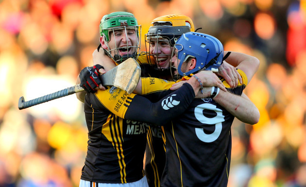 Cathal Doohan, Niall Deasy and Stan Lineen celebrates at the final whistle