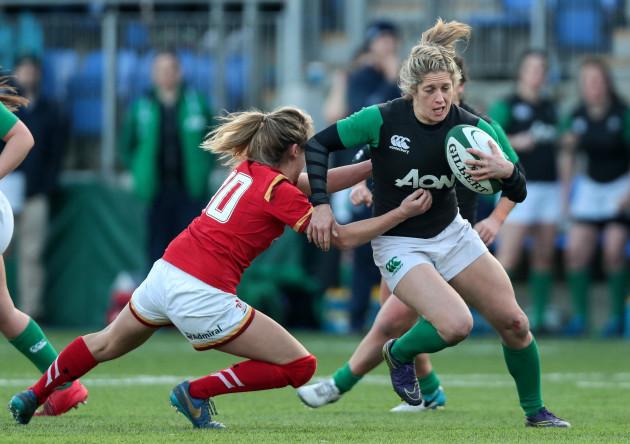 Alison Miller tackled by Jodie Evans