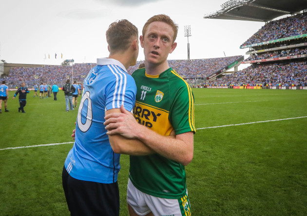 Paul Flynn and Colm Cooper after the game