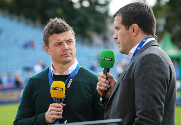 BT Sports pundits Brian O'Driscoll and Shane Jennings