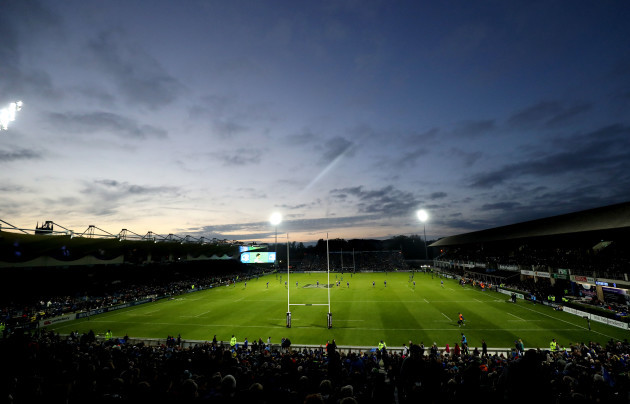 A general view of the RDS during the game