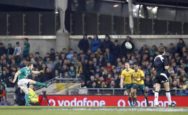 Paddy Jackson kicks a conversion
