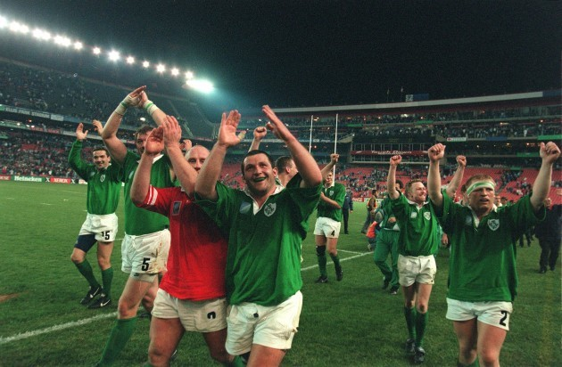 Ireland beat Wales in Rugby World Cup in South Africa 1995