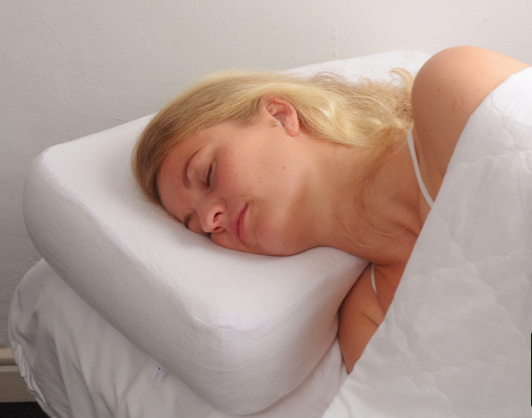 Pillow in use