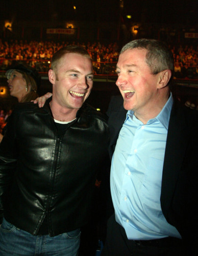 LOUIS WALSH BOY BAND MANAGERS BROWN THOMAS INTERNATIONAL FASHION CHARITY SHOW IN IRELAND