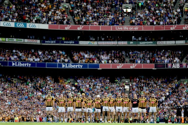 A general view of the Kilkenny team