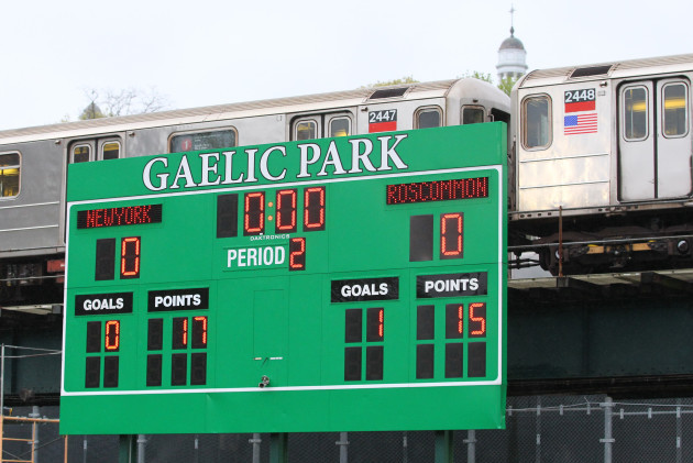 A view of the final score