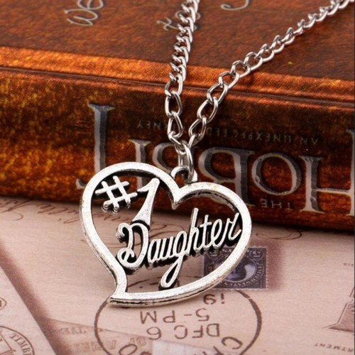 Hot-Jewely-New-Arrival-Vintage-Style-Daughter-s-Gifts-NO-1-Daughter-Heart-Pendant-Necklace