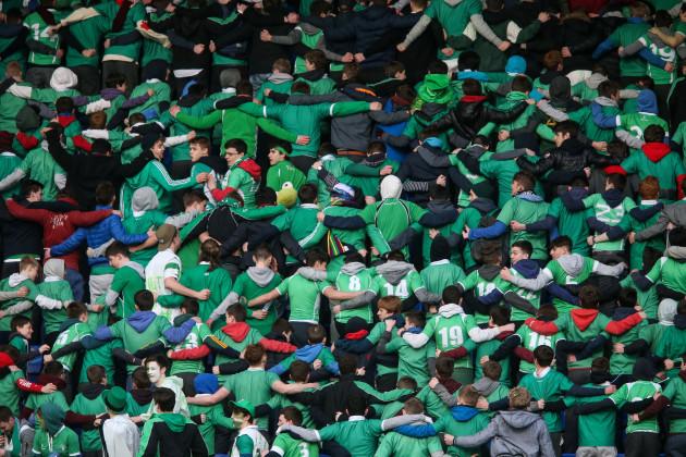 Gonzaga fans do the 'Poznan'